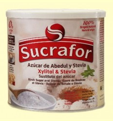 Azúcar de Abedul con Xylitol y Stevia - Sucrafor - 300 gramos