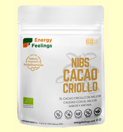 Cacao Criollo Nibs Eco - Energy Feelings - 200 gramos