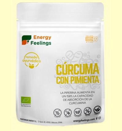 Cúrcuma con Pimienta Negra en Polvo Eco - Energy Feelings - 200 gramos