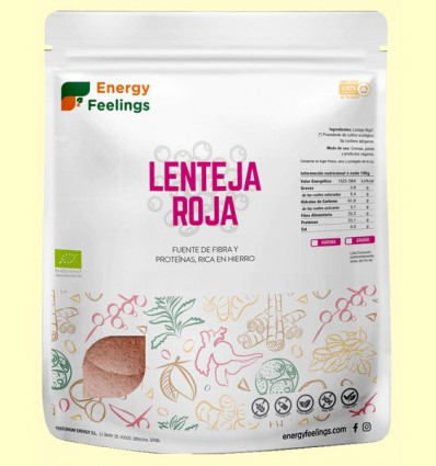 Lenteja Roja Pelada Eco - Energy Feelings - 1 kg
