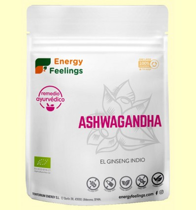 Ashwagandha polvo Eco - Energy Feelings - 200 gramos