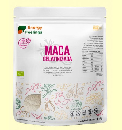 Maca Gelatinizada Eco - Energy Feelings - 500 gramos