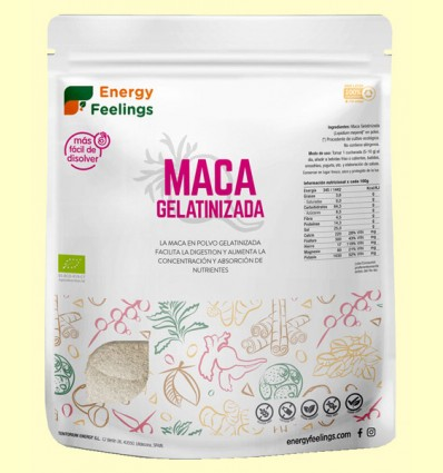 Maca Gelatinizada Eco - Energy Feelings - 1 kg