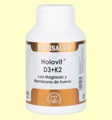 Holovit D3+K2 con Magnesio y Membrana de huevo - Equisalud - 180 cápsulas