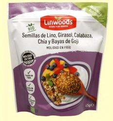 Semillas de Lino Girasol Calabaza Chía y Bayas de Goji Bio - Linwoods - 425 gramos