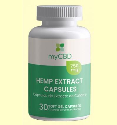 Cápsulas CBD 750 mg - myCBD - 30 cápsulas