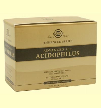 40 + Acidophilus Avanzado - Solgar - 120 cápsulas vegetales