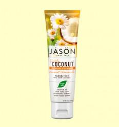 Dentífrico Coco y Camomila - Calmante - Jason - 119 gramos
