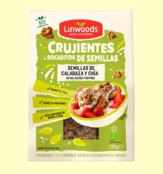 Crujientes Bocaditos de Semillas de Calabaza y Chía Bio - Linwoods - 200 gramos