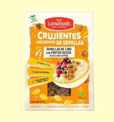 Crujientes Bocaditos de Semillas de Lino y Frutos Secos Bio - Linwoods - 200 gramos