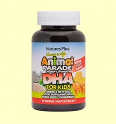 DHA For Kids Animal Parade - Natures Plus - 90 comprimidos masticables