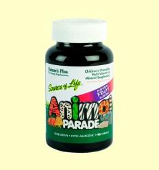 Animal Parade Multivitamínico - Sabor Cereza - Natures Plus - 60 comprimidos