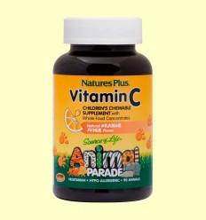 Vitamina C Masticable para Niños Animal Parade - Natures Plus - 90 comprimidos