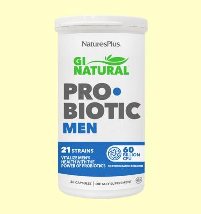 GI Natural Pro Biotic Men - Natures Plus - 30 cápsulas