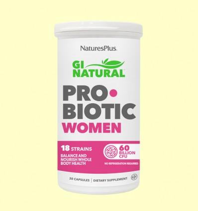 GI Natural Pro Biotic Women - Natures Plus - 30 cápsulas