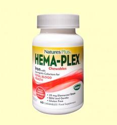 Hema-Plex Masticable - Natures Plus - 60 comprimidos