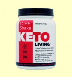 KetoLiving LCHF Batido Chocolate - Natures Plus - 675 gramos