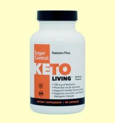 KetoLiving Sugar Control - Natures Plus - 90 cápsulas