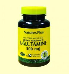 L-Glutamina 500 mg - Natures Plus - 60 cápsulas