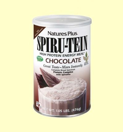 Spiru Tein - Efecto Fibra - Chocolate - Natures Plus - 476 gramos