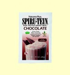 Spiru Tein - Efecto Fibra - Chocolate - Natures Plus - 28 gramos