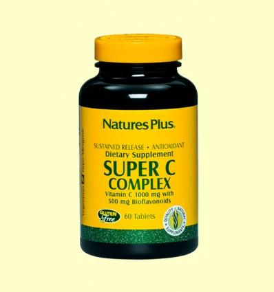 Super C Complex - Vitamina C - Natures Plus - 60 comprimidos