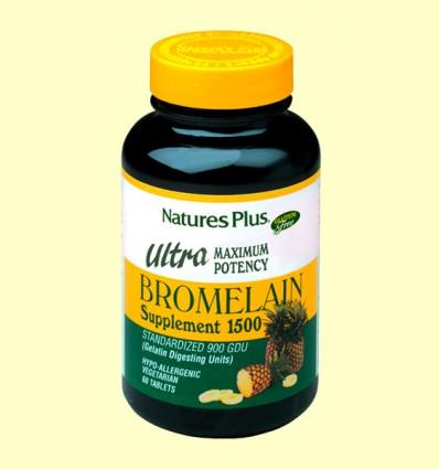 Ultra Bromelaína 1500 mg - Acción protelítica - Natures Plus - 60 comprimidos