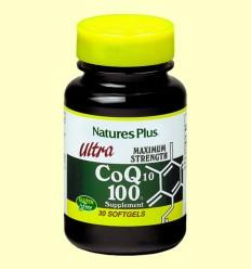 Ultra Coenzima Q-10 100 mg - Coenzima Q10 megapotente - Natures Plus - 30 perlas