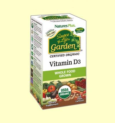 Vitamin D3 Garden - Natures Plus - 60 cápsulas