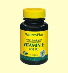 Vitamina E 400 UI - Natures Plus - 60 perlas