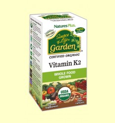 Vitamina K2 Garden - Natures Plus - 60 cápsulas
