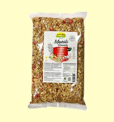 Muesli crujiente - fresas - Granovita - 750 gramos