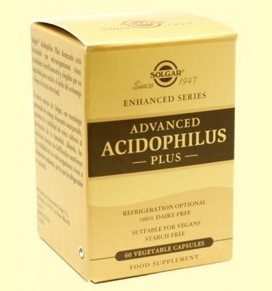 Acidophilus Plus Avanzado - Digestivo - Solgar - 60 cápsulas vegetales