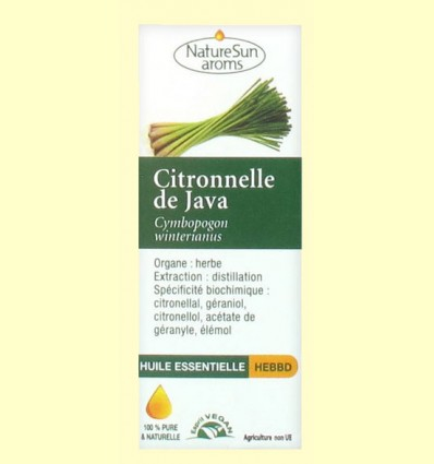 Aceite Esencial Citronella de Java - Biover - 10 ml