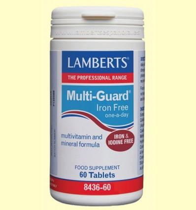 Multi-Guard sin Hierro ni Yodo - Magnesio - Lamberts - 60 tabletas