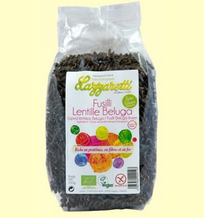Espirales de Lentejas Beluga Bio - Lazzaretti - 250 gramos
