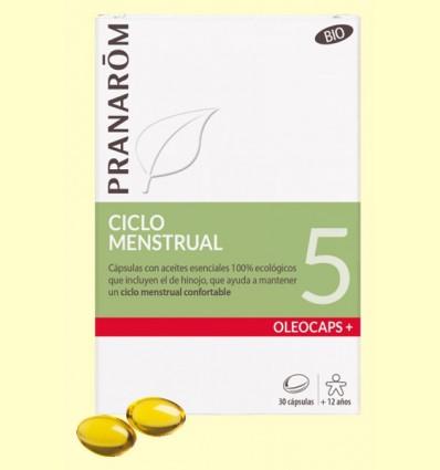 Oléocaps + 5 Ciclo Menstrual Bio - Pranarom - 30 cápsulas