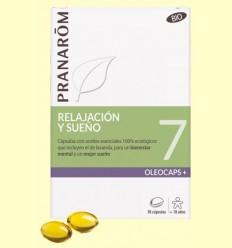 Oléocaps + 7 Relajación y Sueño Bio - Pranarom - 30 cápsulas