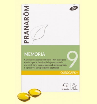 Oléocaps + 9 Memoria Bio - Pranarom - 30 cápsulas