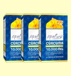 Cúrcuma 10.000 mg Estado Puro - Tongil - Pack 3 x 40 cápsulas