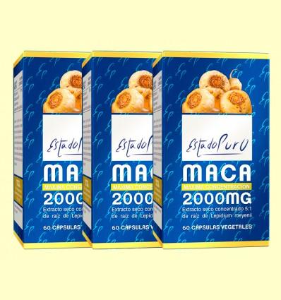 Maca 2000 mg Estado Puro - Tongil - Pack 3 x 60 cápsulas