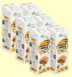 Bebida de Arroz Integral con Canela Limón Bio - Soria Natural - Pack 6 x 1 litro