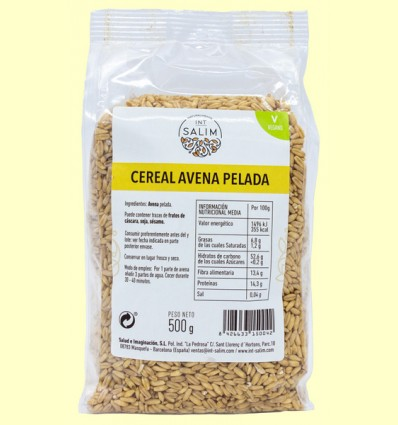 Cereal Avena Pelada - Int-Salim - 500 gramos