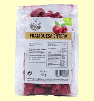 Frambuesa Entera - Int Salim - 40 gramos