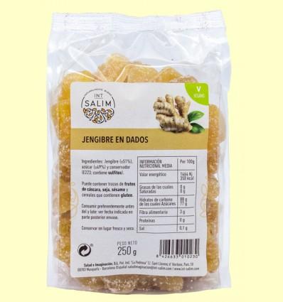 Jengibre en Dados Deshidratado - Int-Salim - 250 gramos