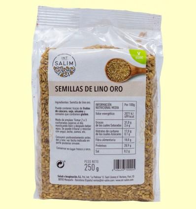 Semillas de Lino Oro - Int-Salim - 250 gramos