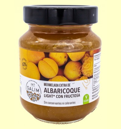 Mermelada extra de Albaricoque light - Int-Salim - 325 gramos