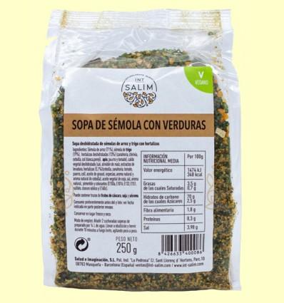 Sopa Sémola de Verduras - Int-Salim - 250 gramos