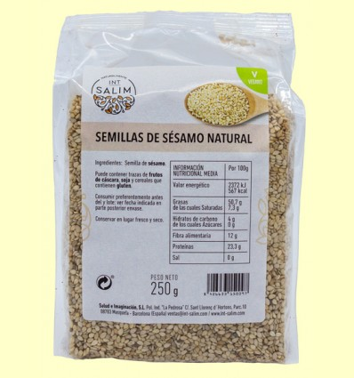 Semillas de Sésamo Natural - Int-Salim - 250 gramos