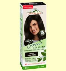 Crema Colorante Cubre Canas Henna Negro - Corpore Sano - 80 ml
